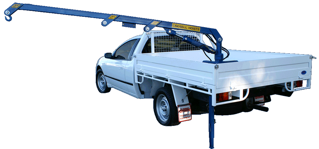 This is a hydraulic ute crane available new and used in