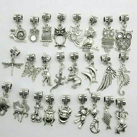 Who Sells Pandora Jewelry: 30pcs Animal Beads Pandora Charms Bracelet DIY Metal