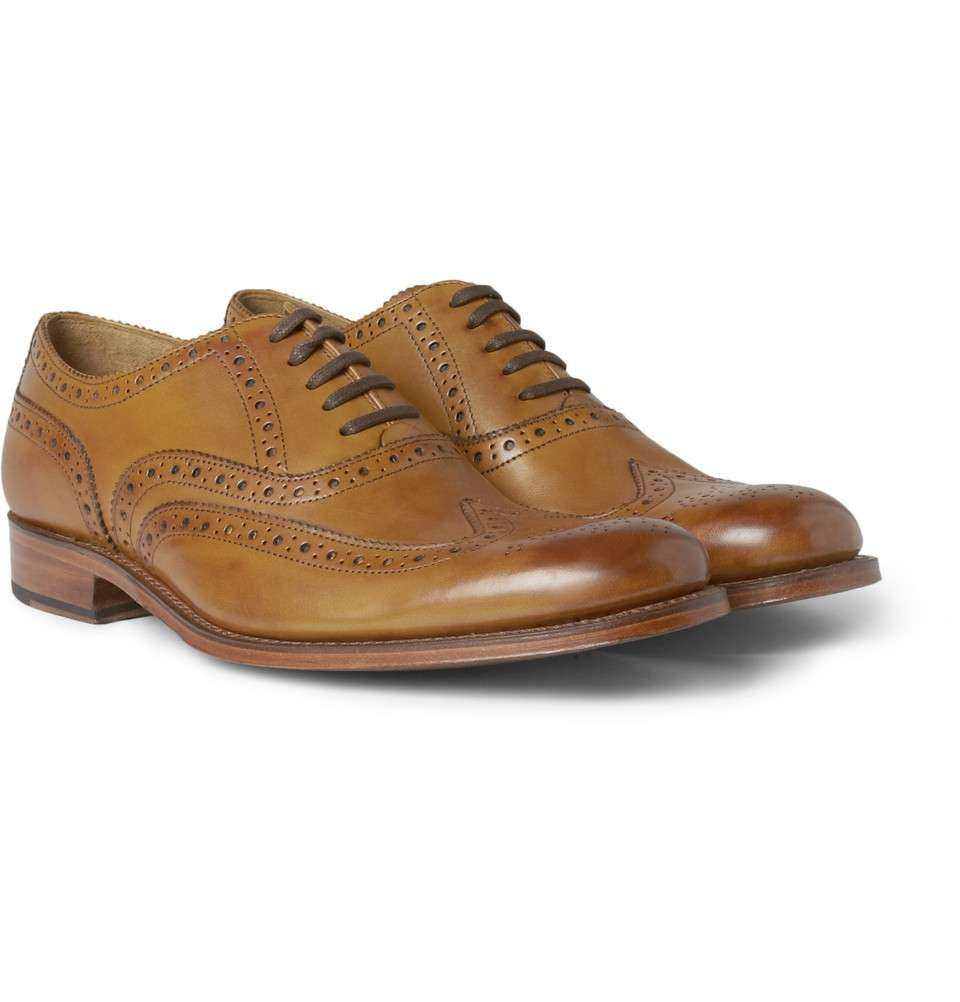 Dylan Burnished-leather Wingtip Brogues - TanGrenson 2cZFPV