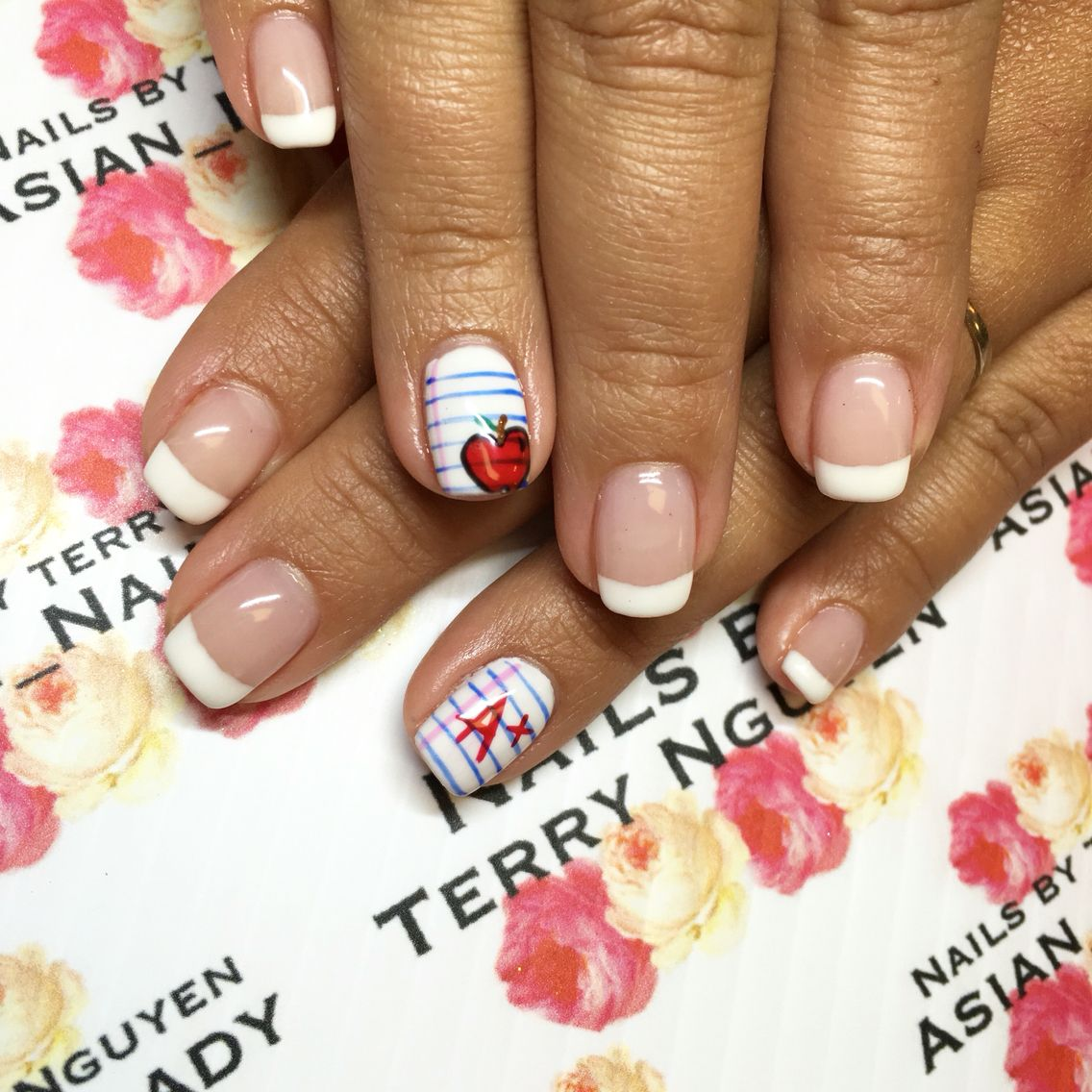 Back to school teachers nails | Character nail art by Terry ...