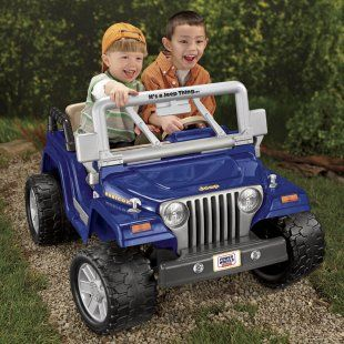 Fisher Price Battery Powered Power Wheels Jeep Wrangler Rubicon At Ridingtoys Com For 290 Dual Seater Power Wheels Jeep Jeep Wrangler Rubicon Power Wheels