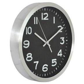 10 Round Wall Clock Black Silver Threshold Wall Clock Round Wall Clocks Gear Wall Clock