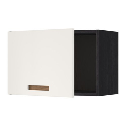 METOD Élément mural - effet bois noir, 60x40 cm, Märsta blanc - IKEA