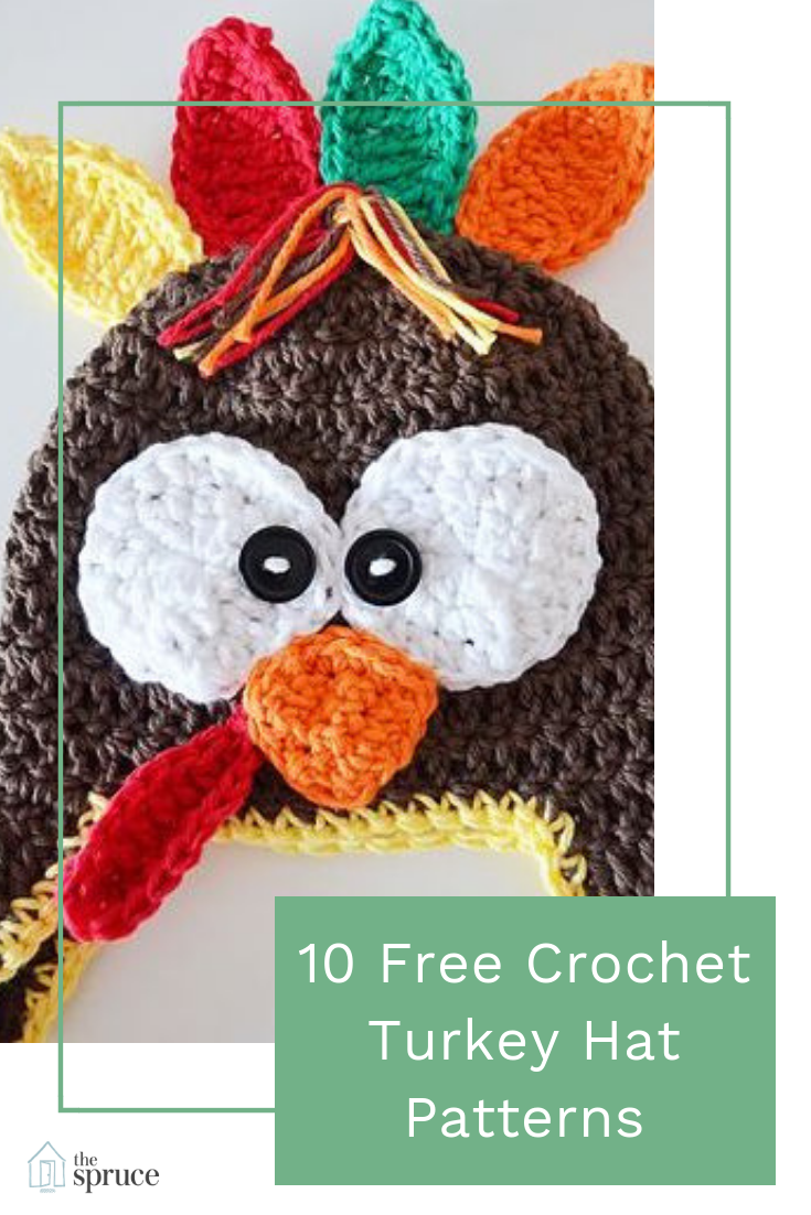 A turkey crochet hat will put a smile on anyone's face and smiles are always something to be ...