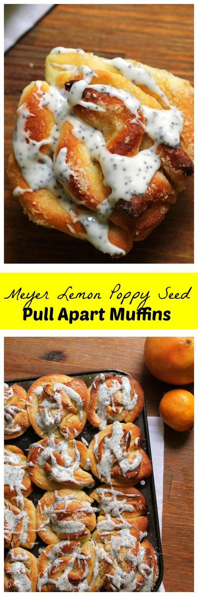 Start your morning with a breath of fresh air in the form of a meyer lemon poppy seed pull-apart muffin!