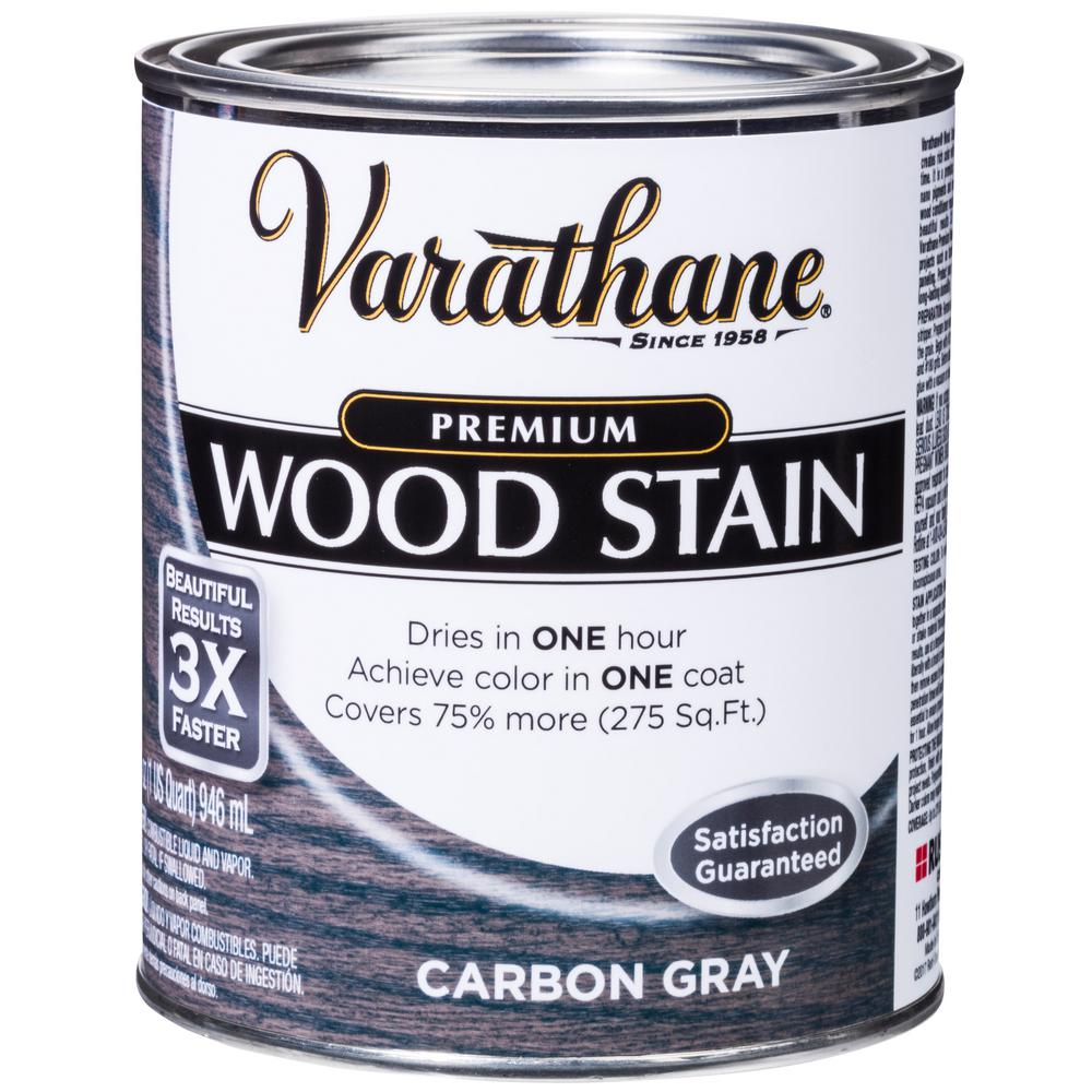 Varathane 1 Qt Carbon Gray Premium Fast Dry Interior Wood Stain 2 Pack 300389 Interior Wood Stain Staining Wood Varathane