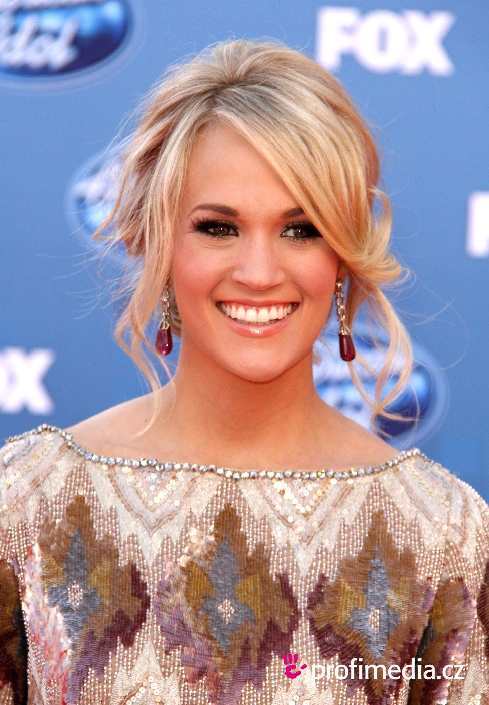 Carrie Underwood Loose Bun Updo with Bangs Carrie Underwood Loose Bun Updo with Bangs new images