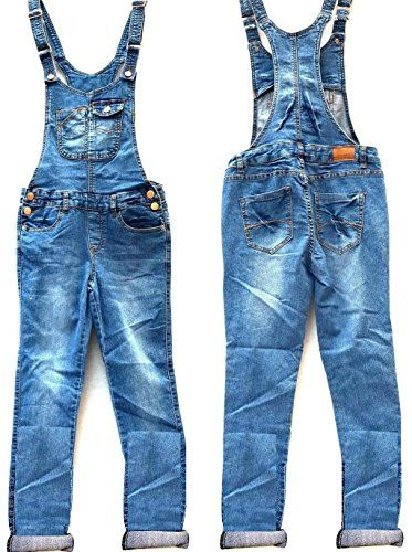 5ce81d33274 New Women Denim JEANS Overall Destroy Long Skinny Pants Jumper Ripped  Distressed (S