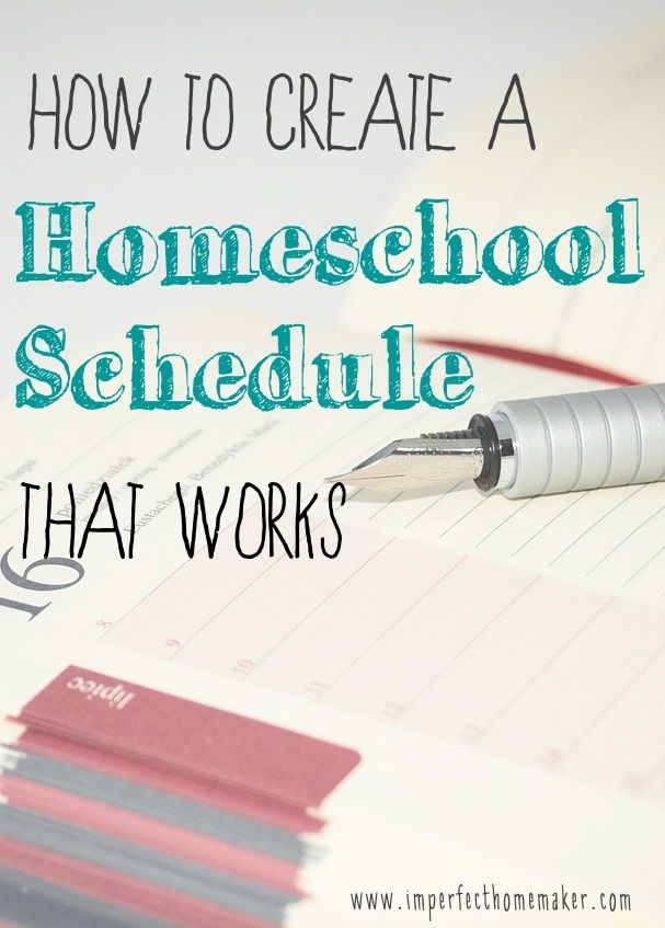Creating a Homeschool Schedule   Schule und Kind