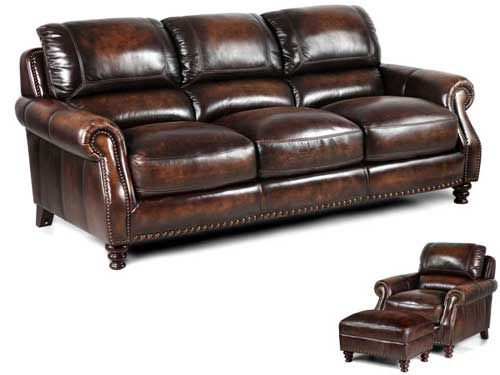 Traditional Leather Living Room With Nailhead Accents Puritan Furniture 1061 New Britain Avenue West Hartford Ct For Styles Like This More
