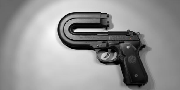Image result for gun aiming backward