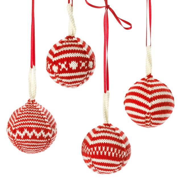 Free Fair Isle Knit Christmas Ornament Pattern Winter Wonderland