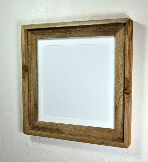 Earth Friendly Picture Frame With 10x10 Mat Rustic Picture Frames