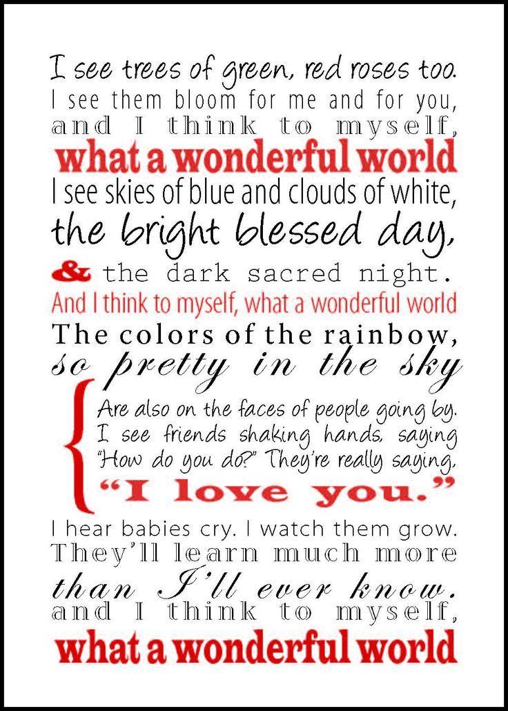 What A Wonderful World Paroles : wonderful, world, paroles, Wonderful, World, Quotes,, Inspirational, Words,, Quotes