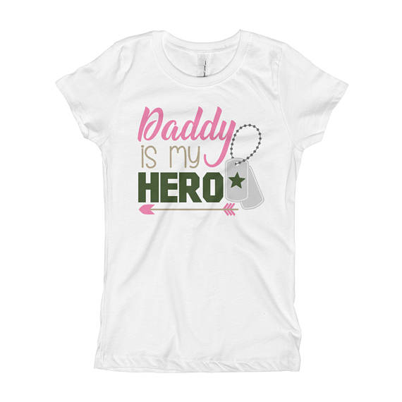 58d8f79c My Daddy is My Hero - Girls Army Shirt - Girls Army Baby Outfit - Army Kid  - Army Daughter - Milit