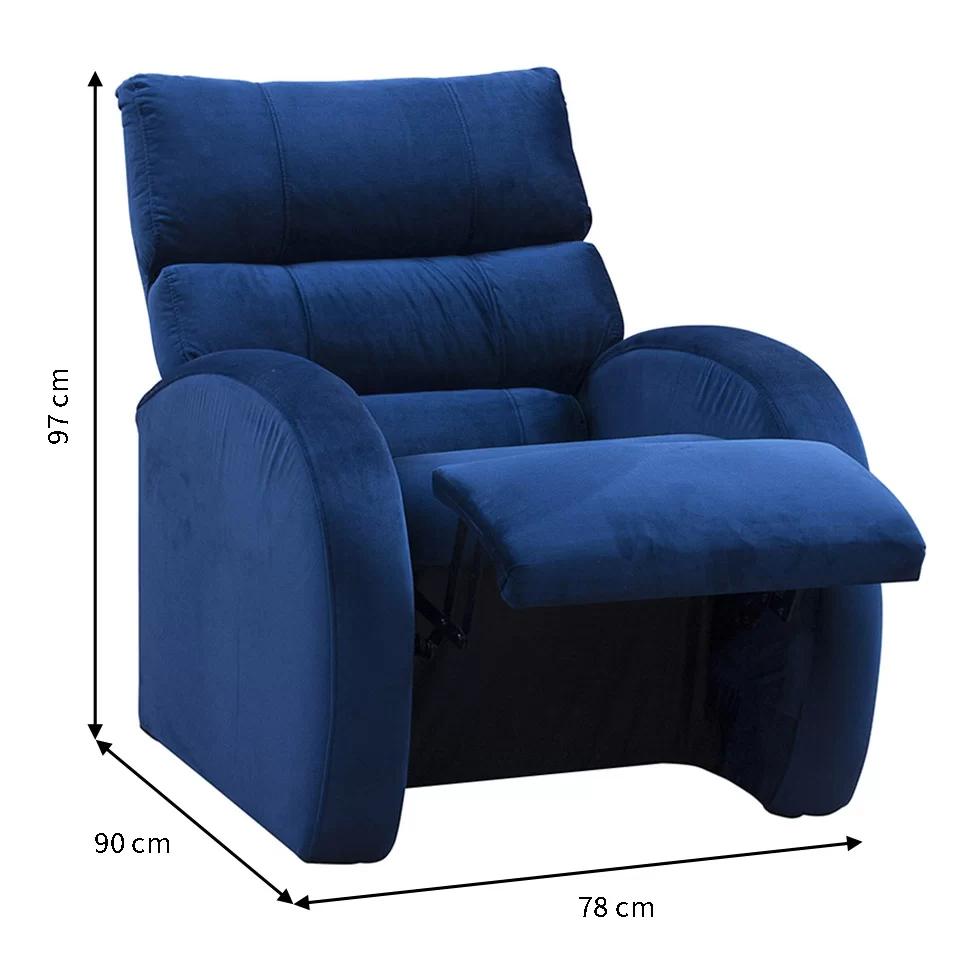 Poltrona Reclinável Camaro Azul - Matrix - Poltronas ...
