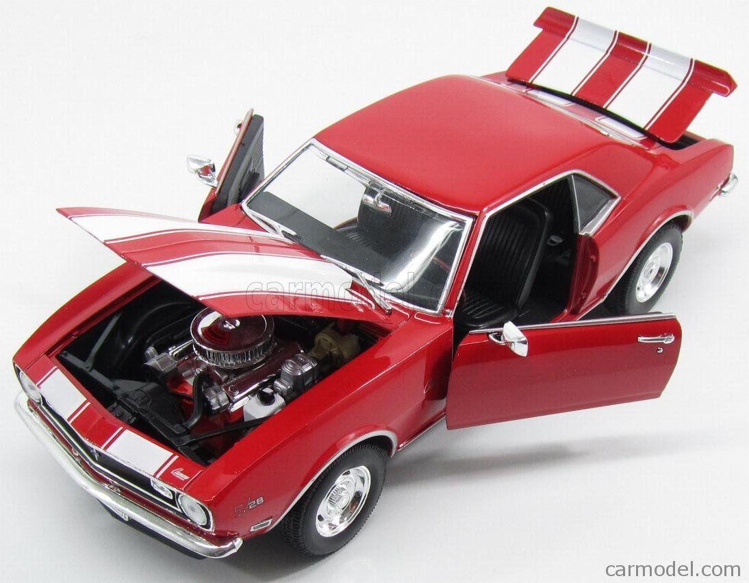 """1967 Chevrolet Camaro Z//28 Red Die Cast Metal Model Car 5/"""" New In Box"""