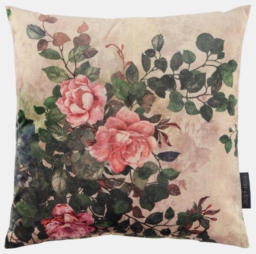 m belvelours sand mit gro en rosen stoff stil fabric design moderne stoffe und. Black Bedroom Furniture Sets. Home Design Ideas