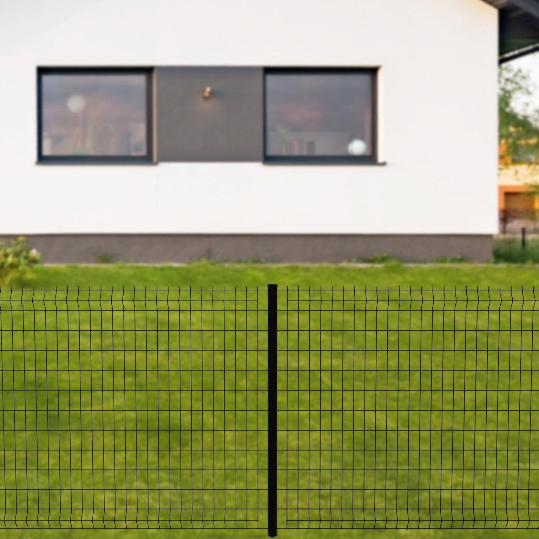 Grillage Panneau Soude Cerista S Noir H 1 22 X L 2 48m Maille 100x55mm Panneau Grillage Rigide Et Pose Grillage