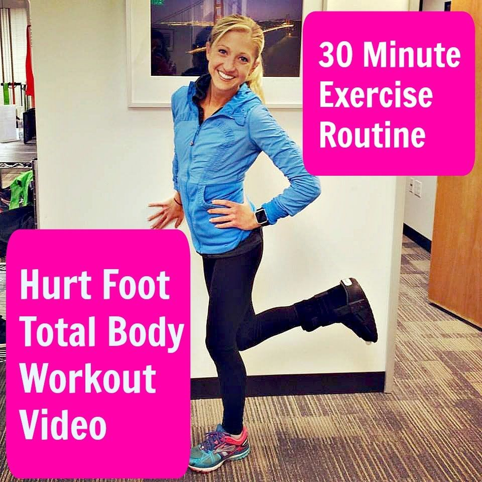 Hurt Foot 30 Minute Total Body Workout. Stay active and Stay Positive Wh...