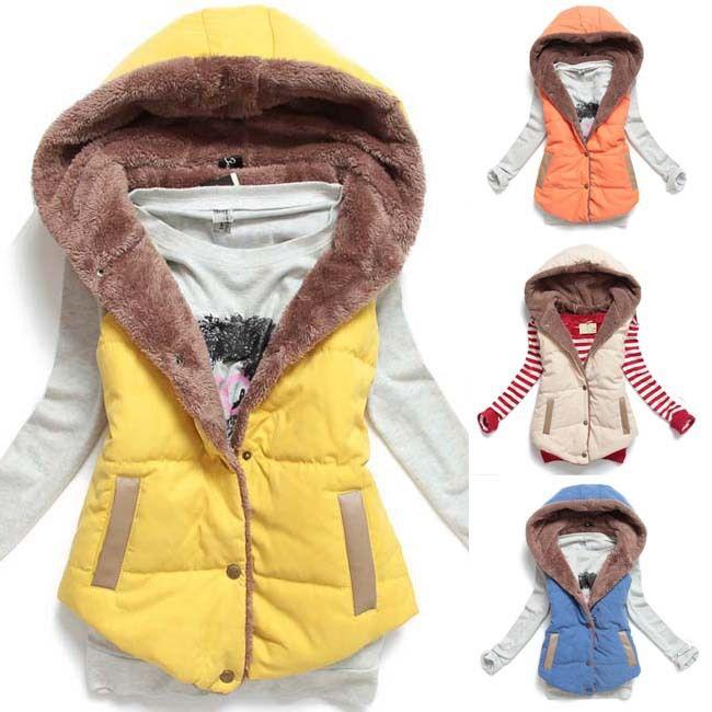 새로운 핫 여성 조끼 플러스 사이즈 민소매 조끼 Femininas 코튼 조끼 후드 재킷 양복