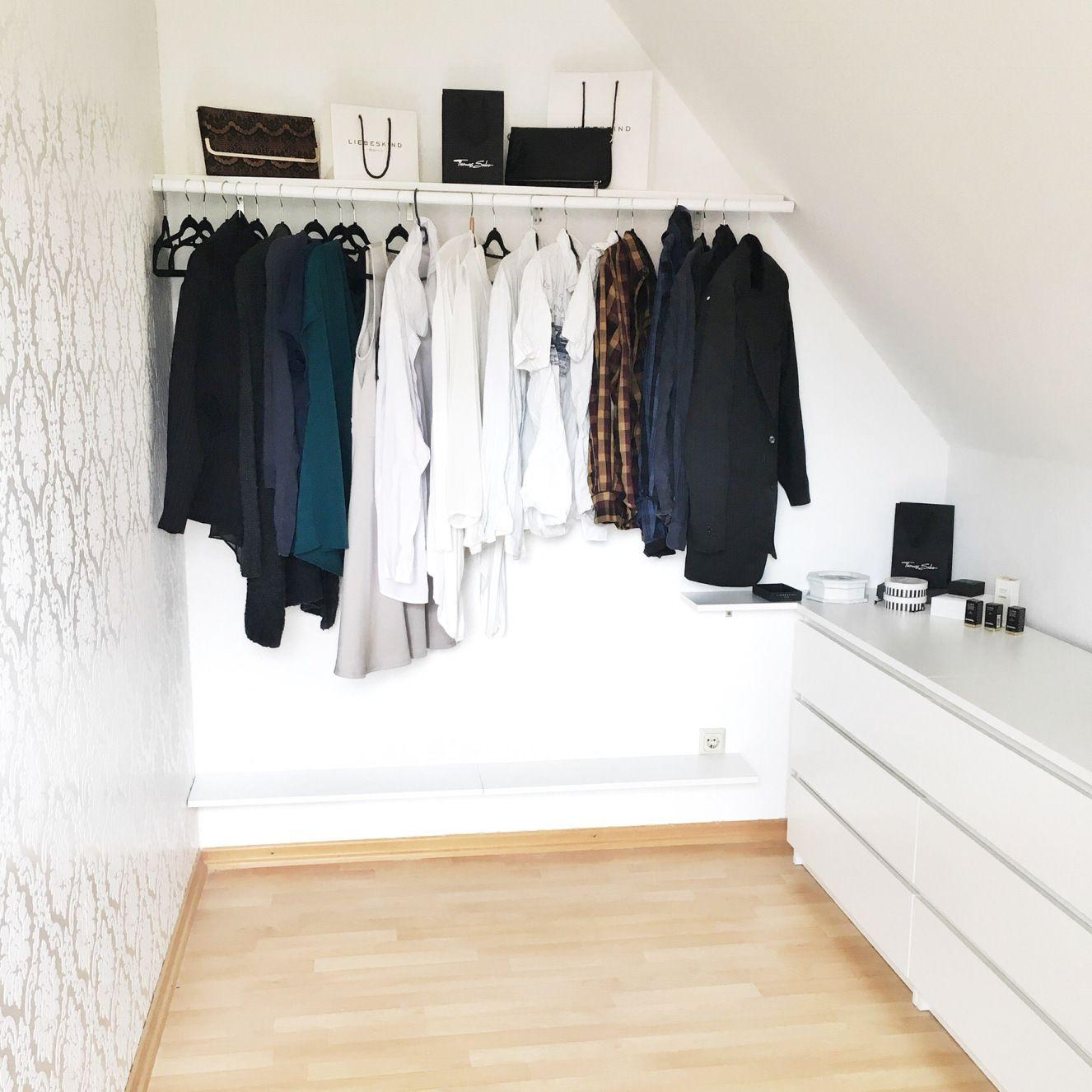 Begehbarer kleiderschrank ikea dachschräge  Willkommen in meinem Ankleidezimmer | Malm kommode, Malm und ...