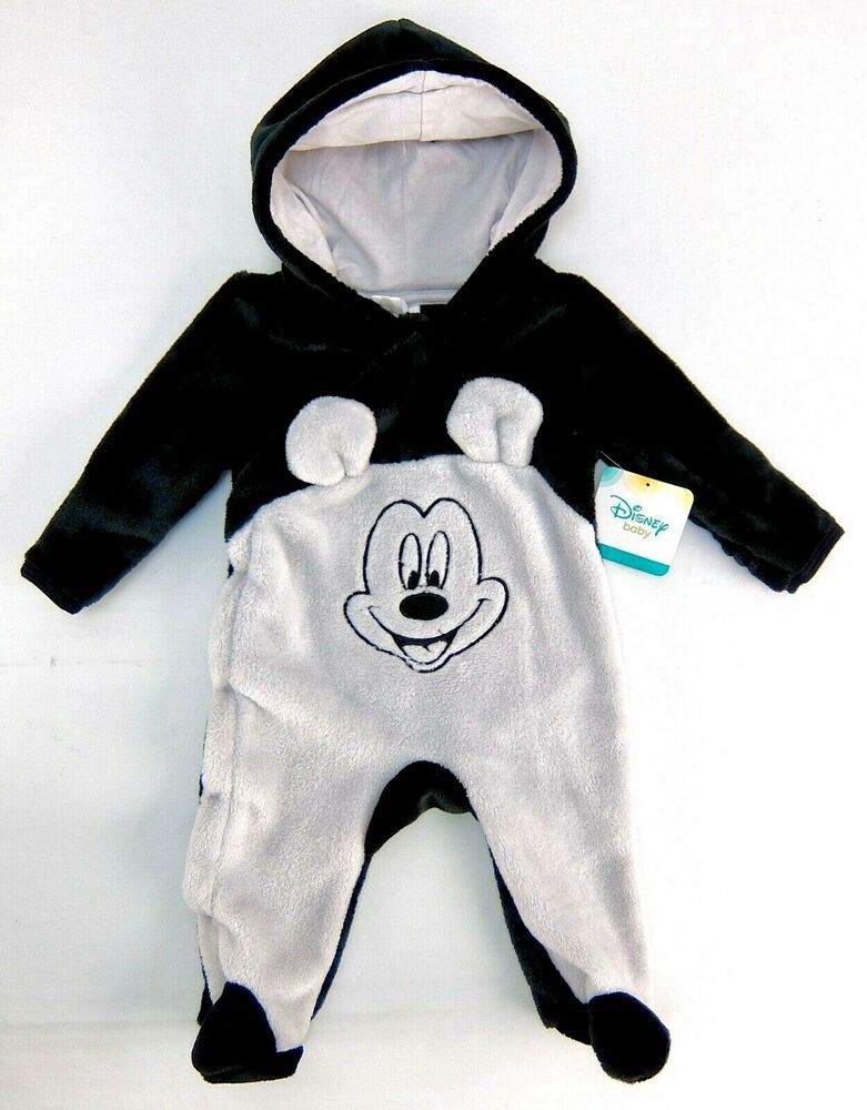 3d7085557 Details about Disney Baby Boys 0-3 Months One-Piece Pram Black Gray ...