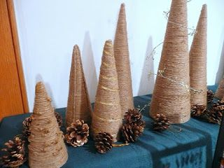 """Jericas Jewelry: Natural Twine Christmas """"Trees"""""""