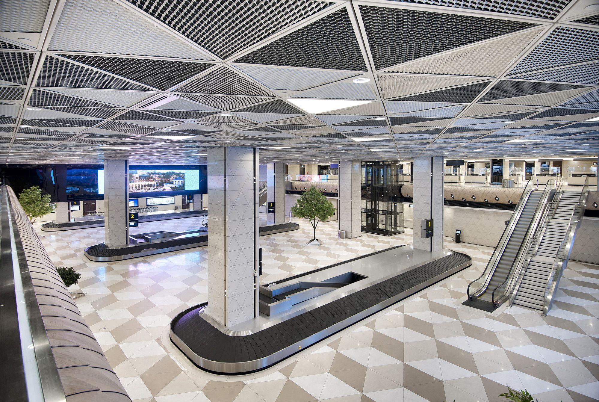 Gallery Of Heydar Aliyev International Airport Baku Autoban 7 Airport Design International Airport Architecture