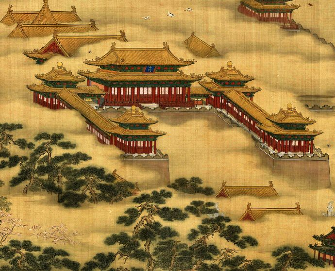 Beijing Forbidden City Ming Dynasty 1368 1644 Colour Meticulous Style Ink Painting By Ming Chinese Landscape Painting Chinese Painting Chinese Landscape