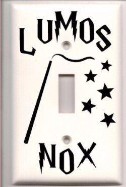 Harry Potter Lumos Nox Light Switch Vinyl Decal Cover Harry Potter Bedroom Decor Harry Potter Room Decor Harry Potter Light