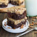 German Chocolate Cheesecake Brownies #germanchocolatecheesecake