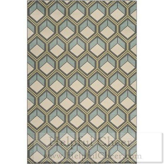Safavieh Indoor Outdoor Stain-resistant Hampton Dark Gray Light Blue Rug 5 x27 1 x 7 x27 7 Get fr