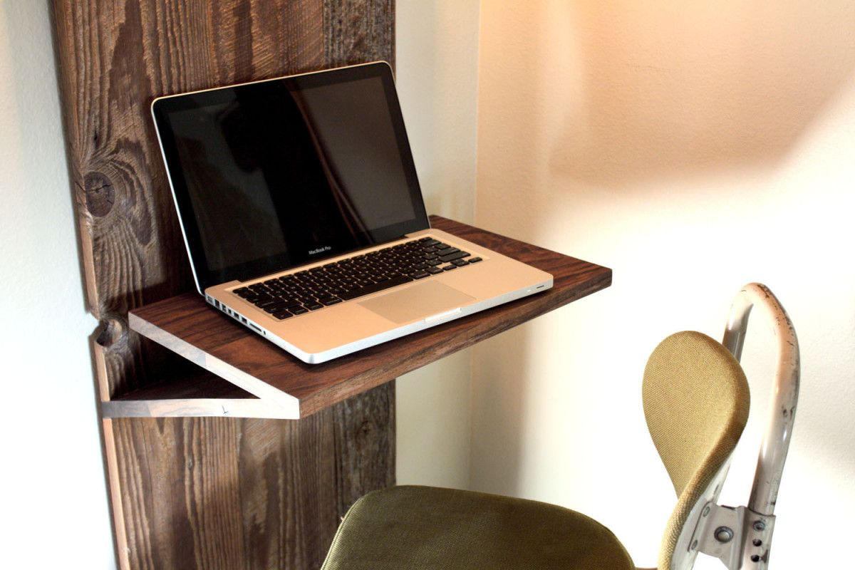 Home Or Just Need A Place To Set Down Book These Wall Mounted Desks Are Smart Ways Save Space Ideas Office Modern Floating Computer Table