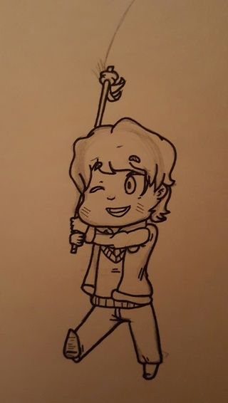 wip of chibi paul ritchey who is 1 3rd of continue haha i m
