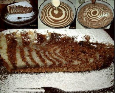 posni zebra kolac Posna zebra torta