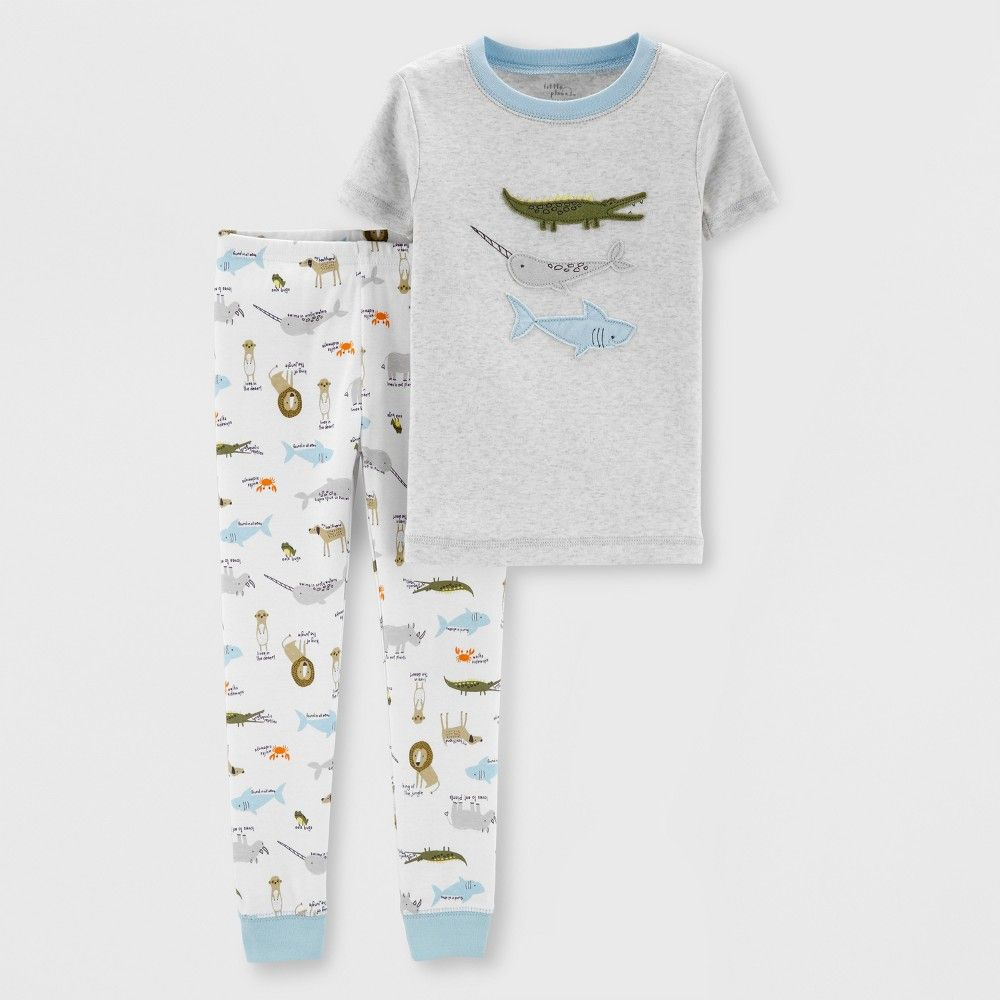 c96962119 Little Plant Organic by carter's Baby Boys' Pajama Set - Gray 18M in ...