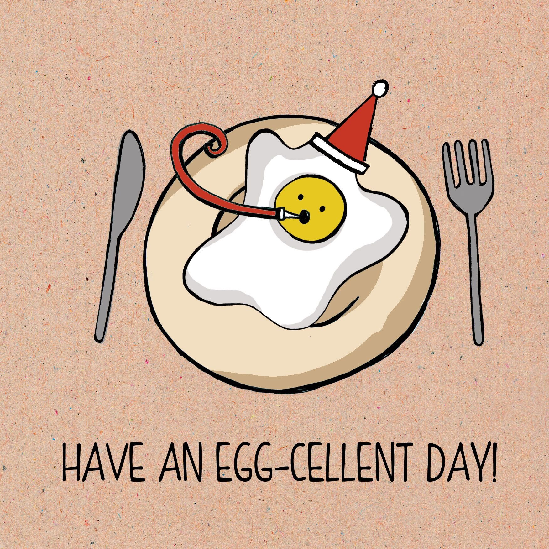 Food pun card Range. Have an egg-cellent day! | Funny Puns ...