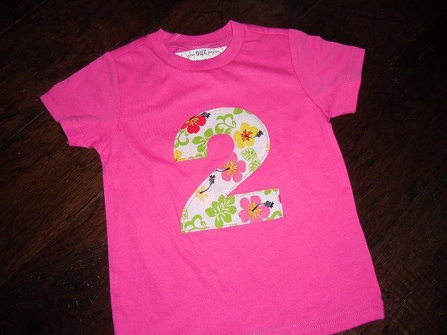 Toddler Girls 2nd Second Birthday Bright Pink Hawaiian Luau Hibiscus Flower 2 Shirt