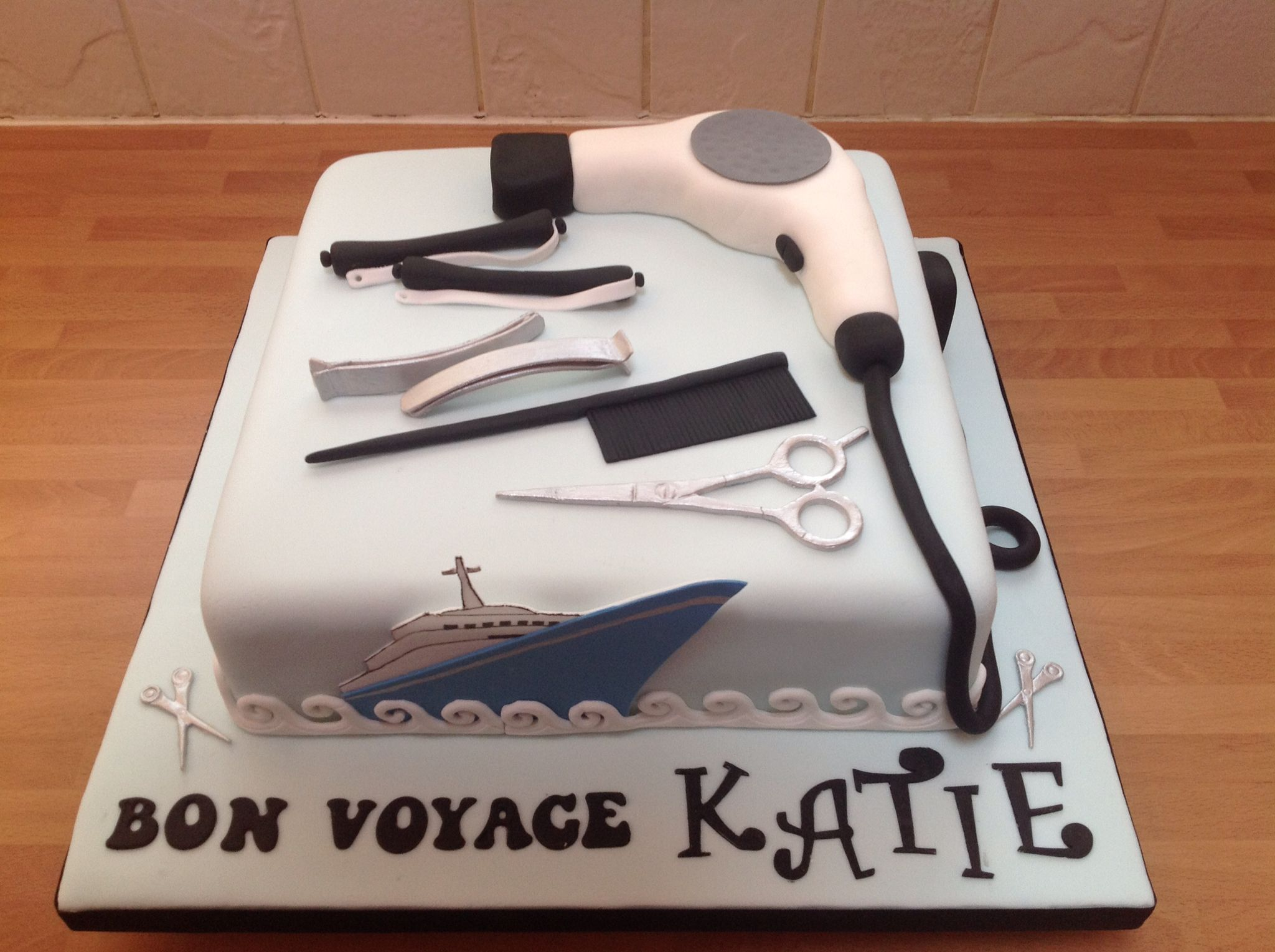 This Was Made For Katie Who Was Leaving To Work On A Cruise Ship - Working as a hairdresser on a cruise ship