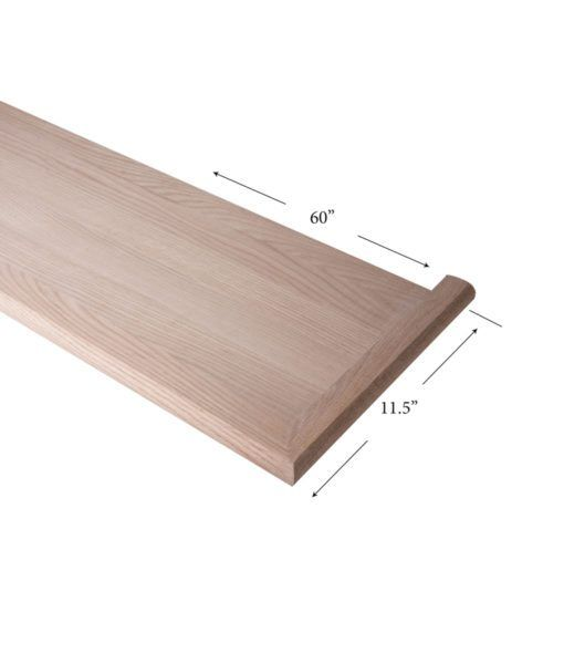 8070 Mr 60 Mitered Return Right Hand Wood Stair Treads Mitered Wood Staircase