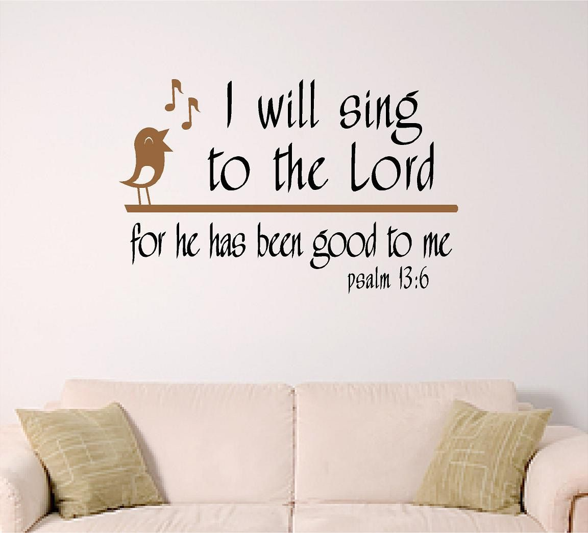 Great Scripture Wall Art, I Will Sing To The Lord. $16.00, Via Etsy.