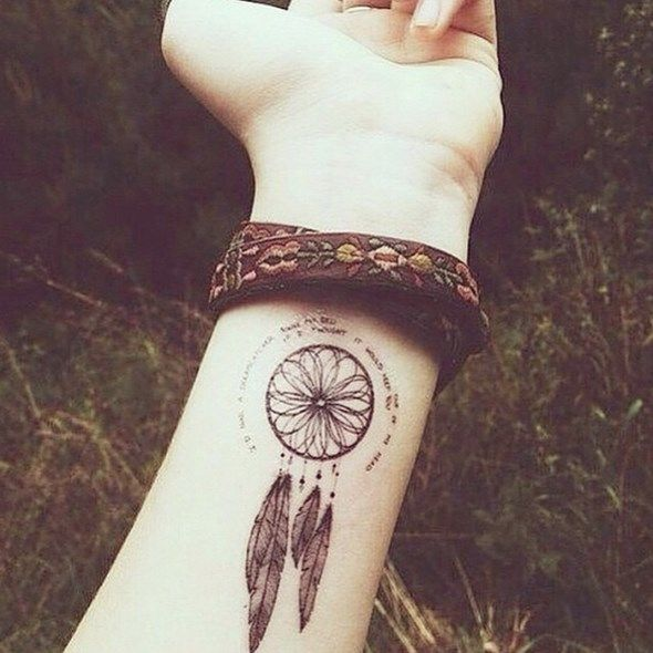 38 small dreamcatcher tattoo placement ideas small dreamcatcher tattoo dreamcatcher tattoos - Tatouage chat poignet ...