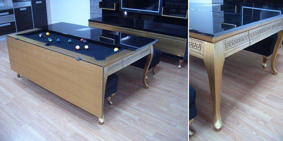 Mesa de comedor convertible en mesa de billar | Billar Room-Mesa de ...