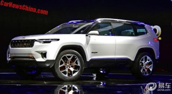 The Jeep Yuntu Concept Is A Big 6 Seat SUV For China   CarNewsChina.