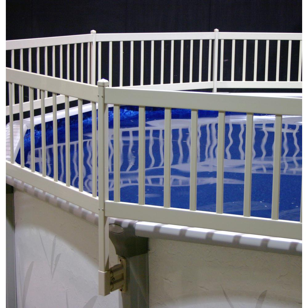 The Vinyl Works Above Ground Pool Fence Kit 8 Sections In Taupe