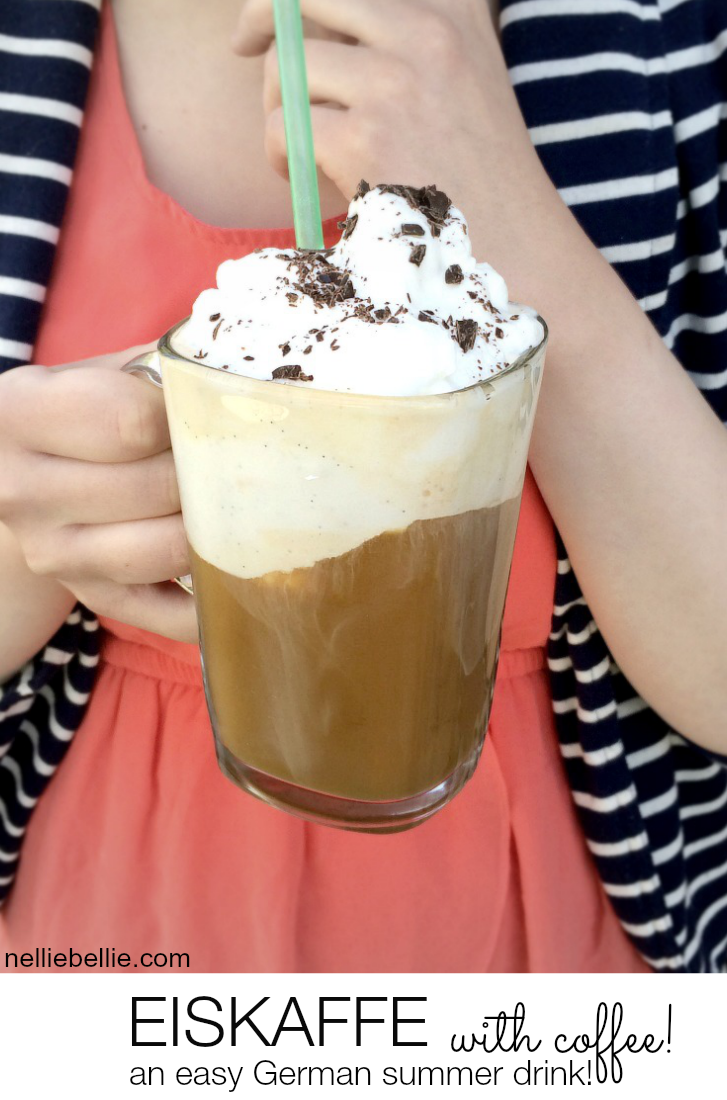 German Coffee Drink (Eskaffee) with only 3 delicious ingredients. A yummy fabulous summer drink!