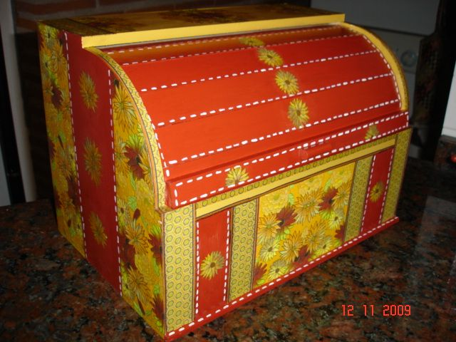 Panera decorada decoupage cajas de madera pinterest - Cajas de madera decoradas ...