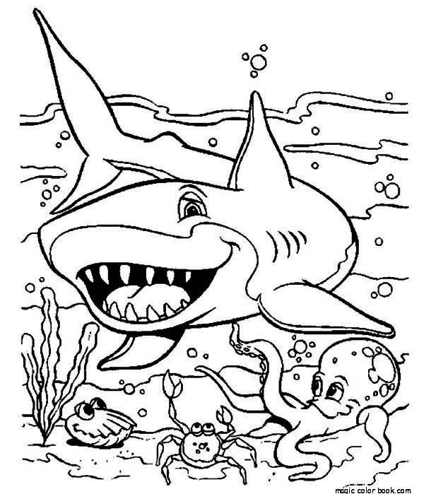 Sea Shark Coloring Pages To Print Out For Your Kids Shark Coloring Pages Ocean Coloring Pages Animal Coloring Pages