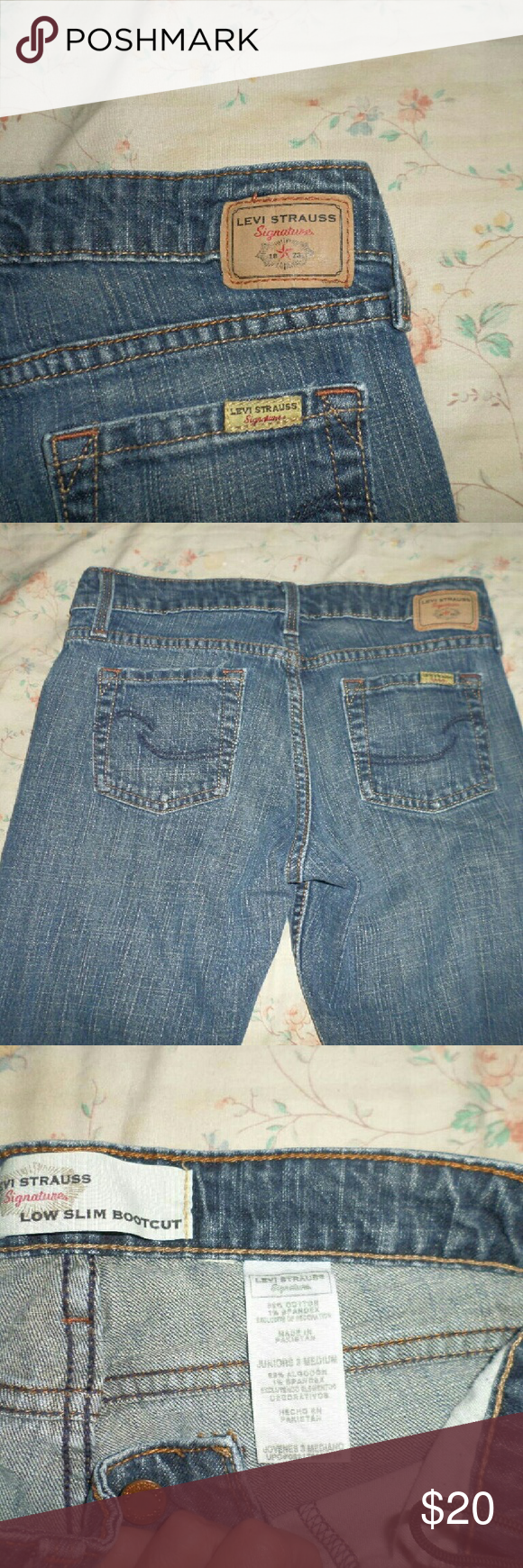Sz 3 Levi signature series jeans These are medium length jeans and run a bit short the fit me well but I have extremely long legs and they are to short for me. I only wore them a few times inside my boots . levis Jeans Boot Cut